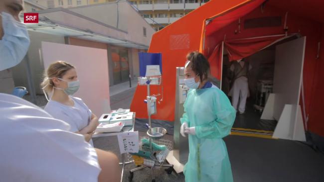 COVID-19: Tessiner Spital im Kampf gegen das Corona-Virus - Play SRF