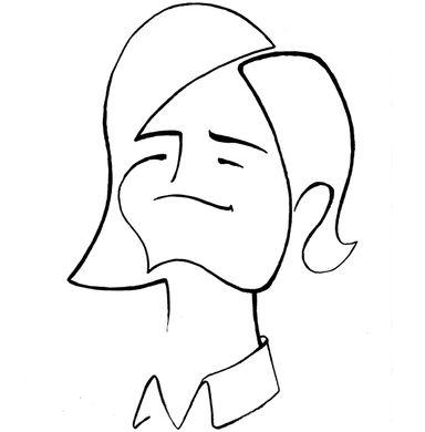 gezeichnetes Portrait von Binswanger