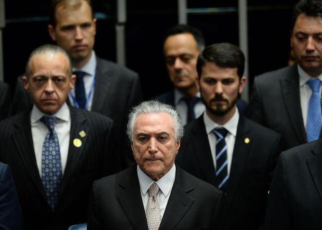 Michel Temer bei seiner Vereidigung zum Präsidenten von Brasilien.