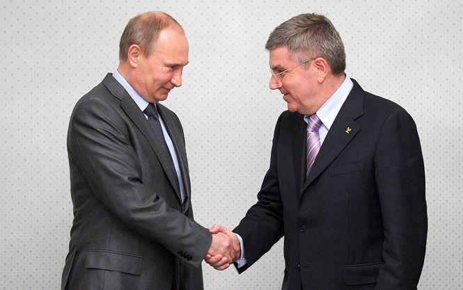 Putin und Bach schütteln die Hand