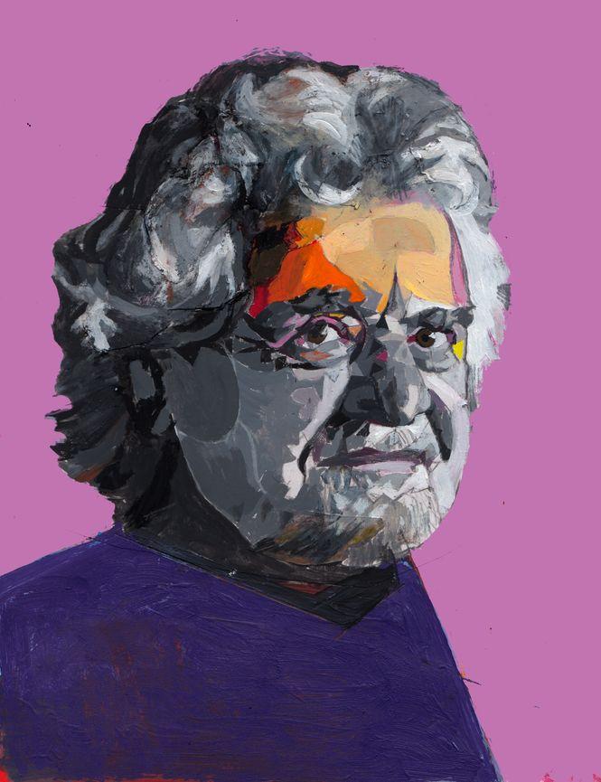 gemaltes Portrait von Beppe Grillo