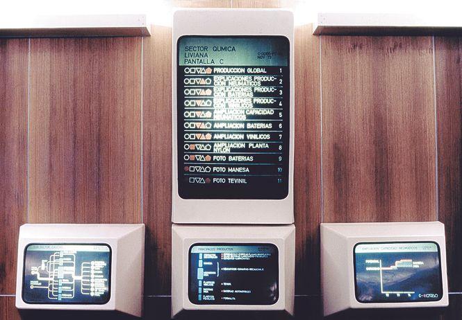 verschiedene altmodische Monitore