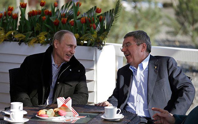 Putin und Bach beim Kaffee